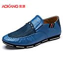 Aokang Мужская обувь Открытый / Спортивный / Повседневная Кожа Мода кроссовки черный / синий