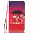 Окрашенные ПУ Телефон чехол для Huawei P8 Lite