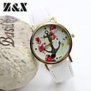 Женская мода Простота Цветы Якорь Кварц Кожа аналоговые наручные часы (разных цветов)