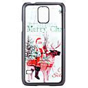 Белое Рождество Санта Клаус и олень шаблон ПК Жесткий задняя обложка чехол для Samsung Galaxy S5