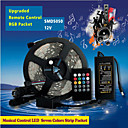 5M 300Pcs of High Brightness SMD5050 LED 20 Keys Seven Sound Colors LED Remote Control RGB Strips IP67