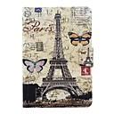 Париж башня шаблон PU кожаный чехол с Samsung Galaxy Tab T715