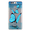 Blue Butterfly Pattern Embossed TPU Case for P9/ P9 Lite
