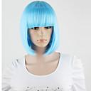 De harajuku vrouwen lolita kort synthetisch haar partij bruine gemengde cosplay volledige pruiken hemelsblauw pruiken