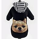 honden Hoodies / Denim jacks Zwart Hondenkleding Winter Streep Modieus /