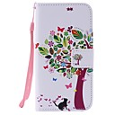 For Galaxy J3 J3(2016) Cats and Tree Painted Card Holder Wallet PU Leather Phone Case