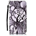 Tree  Painted Card Stent PU Leather Mobile Phone Holster Phone Case for Huawei P9 Lite Y5II Y6II