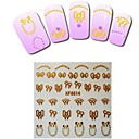 1sheet  Gold Nail Stickers XF6014
