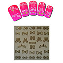 1sheet  Gold Nail Stickers XF6034
