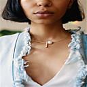 Women's Choker Necklaces Obsidian Jewelry Imitation Pearl Copper Unique Design Imitation Pearl Euramerican Fashion Personalized Jewelry