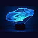 Christmas car touch dimming 3d led światła nocne 7colorful dekoracji atmosfery światła nowości oświetlenie boże narodzenie świetle