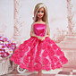 Barbie Doll Sweet Rose Princess Dress
