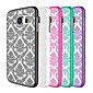 For Samsung Galaxy Case Transparent Case Back Cover Case Flower PC Samsung S6