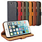Bark Grain Genuine Leather Full Body Cover with Stand and Case for iPhone 6 (Assorted Colors)