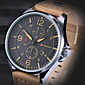 Curren Men's Watch Number and Strips Marks with Round Dial Leather Watchband   (Assorted Colors)