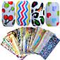 1Set 50pcs 20*4cm Nail Art Mixed Colorful Image Beautiful Foil Transfer Stickers DIY Beauty NJ207